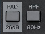PAD and HPF Switches