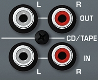 CD/TAPE Input and Output